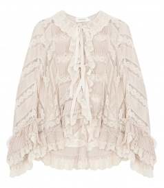 CLOTHES - TEMPEST PLEAT LACE SHIRT FT ANGLED BUTTERFLY SLEEVES