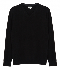 PULLOVERS - WOOL & CASHMERE V-NECK PULLOVER