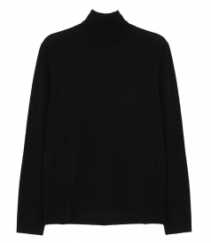 CONTRASTED MERINO WOOL ROLL NECK SWEATER