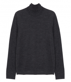 CLOTHES - CONTRASTED MERINO WOOL ROLL NECK SWEATER