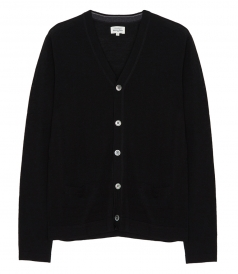 CARDIGANS - WOOL BUTTONED POCKET CARDIGAN