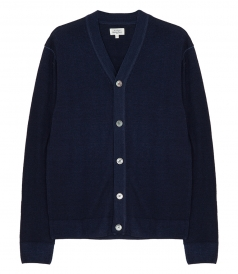 WOOL BUTTONED CARDIGAN