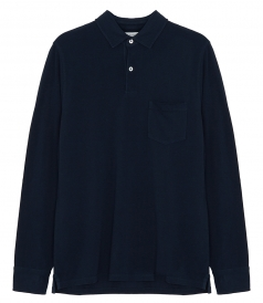 COTTON JERSEY LONG SLEEVE POLO