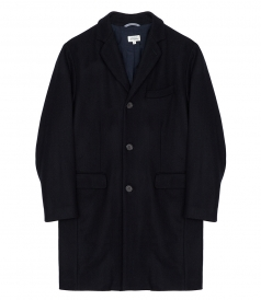 HERRINGBONE WOOL & CASHMERE COAT