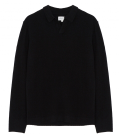 PULLOVERS - WOOL & CASHMERE POLO SWEATER