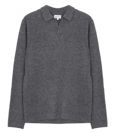 WOOL & CASHMERE POLO SWEATER