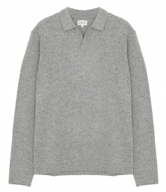 HARTFORD - WOOL & CASHMERE POLO SWEATER
