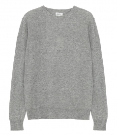 CONSTRASTED WOOL & CASHMERE CREW NECK SWEATER