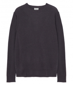 PULLOVERS - CONSTRASTED WOOL & CASHMERE CREW NECK SWEATER