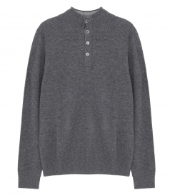 PULLOVERS - WOOL & CASHMERE HIGH NECK SWEATER