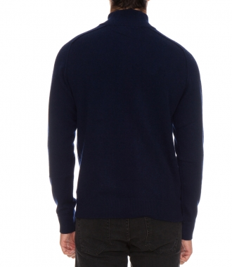 WOOL & CASHMERE HIGH NECK SWEATER