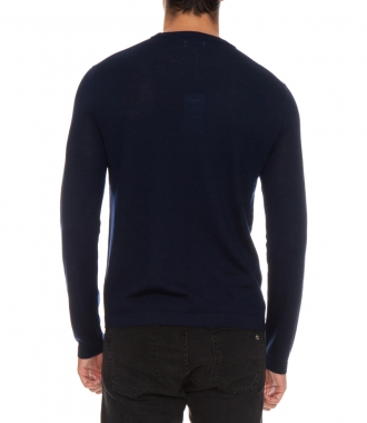 WOOL & CASHMERE CREW NECK SWEATER
