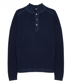 PULLOVERS - MERINO WOOL HIGH NECK SWEATER