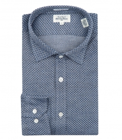 COTTON MICRO PRINT SHIRT