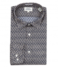 COTTON RHOMBUS PRINTED SHIRT