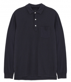 SLUB LONG SLEEVES POLO SHIRT