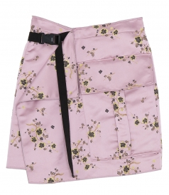 CLOTHES - CHEONGSHAM FLOWER PRINT WRAPPED SKIRT