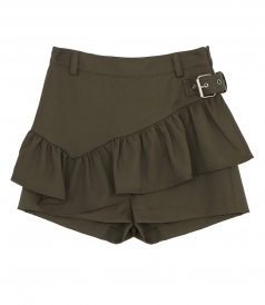SHORTS - RUFFLED APRON SHORTS