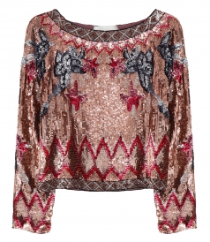 CLOTHES - SEQUINED PATTERNED BLOUSE