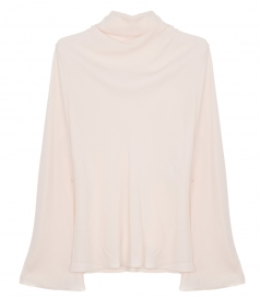 CLOTHES - TONALISM COWL NECK PEACH TOP