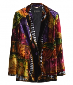 CLOTHES - MIXED PRINT VELVET JACKET