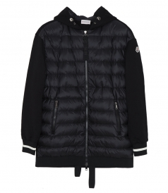 HOODED PADDED DOWN JACKET FT RIBBED CUFFS