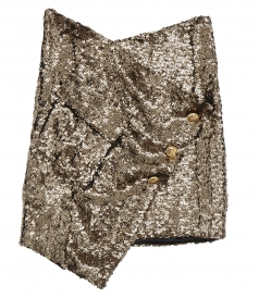 SALES - ASYMMETRIC GOLD SEQUIN SKIRT