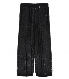PANTS - DRAWSTRING PAILLETTES TROUSERS