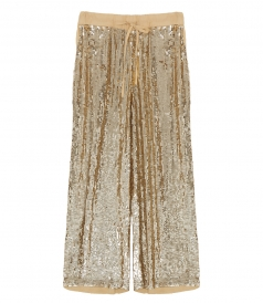 CLOTHES - DRAWSTRING PAILLETTES TROUSERS