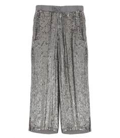 DRAWSTRING PAILLETTES TROUSERS