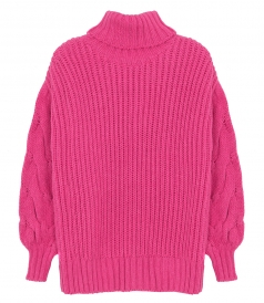 SALES - TURTLE NECK KNIT SWEATER