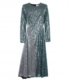 CLOTHES - SEQUIN LONG SLEEVE DRESS