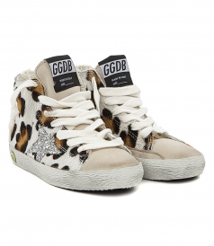 SHOES - FRANCY LEOPARD PRINT SNEAKERS FT SILVER STAR