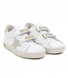 OLD SCHOOL SNEAKERS TOTAL WHITE FT GOLD DTL