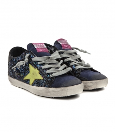 LOW TOP - SUPERSTAR SNEAKERS IN MULTICOLORED GLITTER