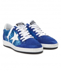 BALL STAR SNEAKERS IN ROYAL BLUE FT GLITTER DETAILING
