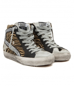 SLIDE SNEAKERS IN TIGER ANIMAL PRINT