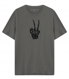 CREW NECK - SKELETON PEACE T-SHIRT