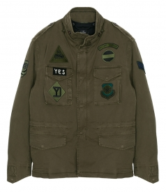 MASON'S - FIELD JACKET FT MILITARY PATCHES