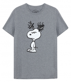 CREW NECK - ANGRY SNOOPY T-SHIRT