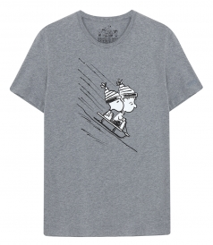 CREW NECK - SNOOPY ON SNOW T-SHIRT
