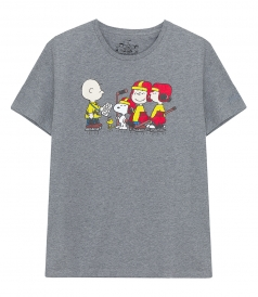 CREW NECK - HOCKEY PEANUTS T-SHIRT
