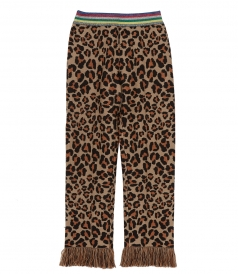 CLOTHES - ANIMALIER JACQUARD LUREX HEM PANTS