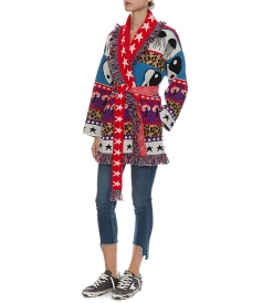 PSYCHEDELIC MOTIVES KNIT CARDIGAN
