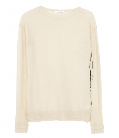 HELMUT LANG - COVERSTITCH KNIT CREWNECK