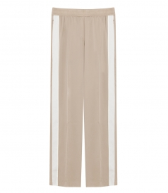 CLOTHES - SILK PULL-ON TRACK PANTS