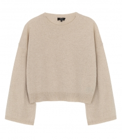 WIDE SLEEVE CASHMERE PULLOVER