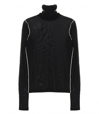HELMUT LANG - ROLL NECK SHEER TUILE TOP
