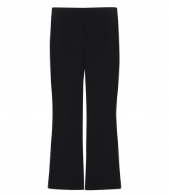 CLOTHES - FLARE SCUBA CROPPED PANTS