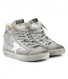 FRANCY SNEAKERS IN SILVER SUEDE